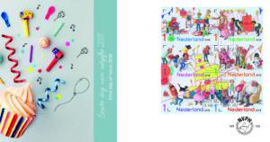postzegel verjaardag feest NVPH